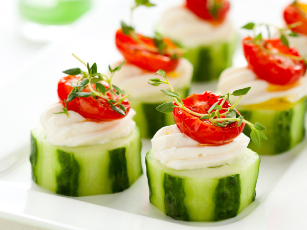 Herbed Cucumber Slices